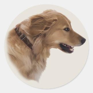Pegatina del perro del golden retriever