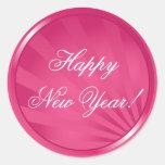 Pegatina del personalizable de la Feliz Año Nuevo