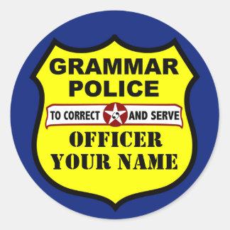 Pegatina del personalizable de la policía de la