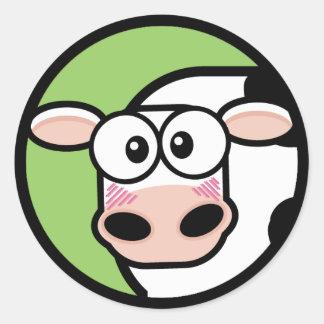 Pegatina del personalizable de la vaca del dibujo