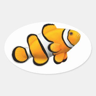 Pegatina del personalizable de los pescados de Ane