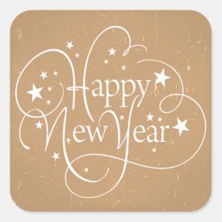 Pegatina del personalizado de la Feliz Año Nuevo