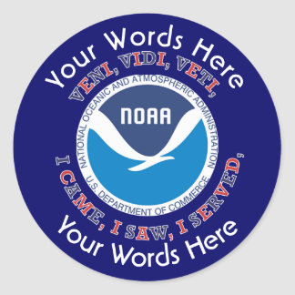 Pegatina del personalizado de NOAA