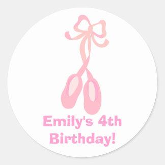 Pegatina del personalizado del cumpleaños del