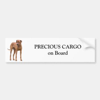 Pegatina del personalizado del perro de Rhodesian  Pegatina Para Auto