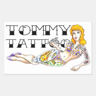 Pegatina del Pin-Para arriba del tatuaje de Tommy