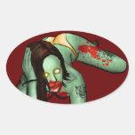 Pegatina del Pin-Para arriba del zombi