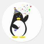 Pegatina del pingüino del fiesta