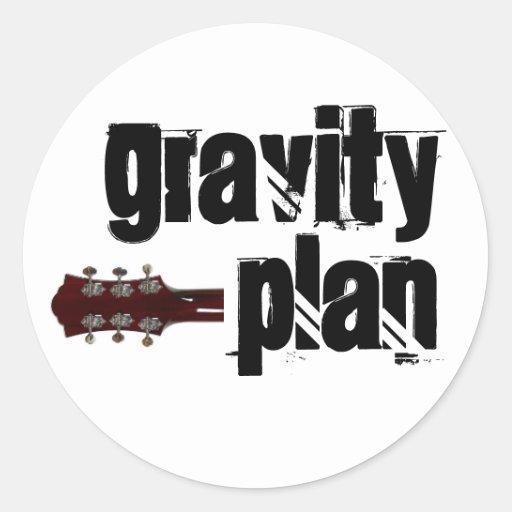 Pegatina del plan de la gravedad