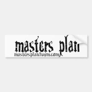 Pegatina del plan maestro pegatina de parachoque