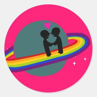 Pegatina del planeta del arco iris