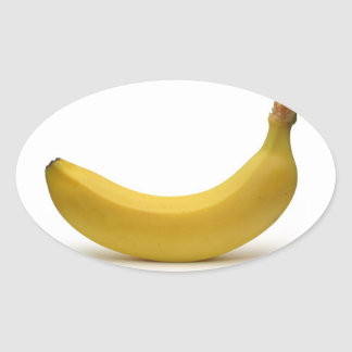 ¡Pegatina del plátano! Pegatina Ovalada