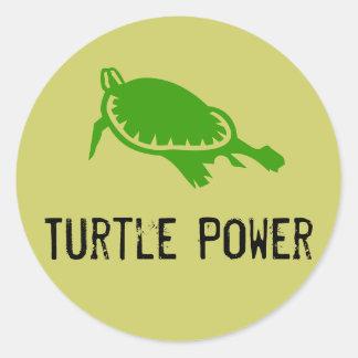 Pegatina del poder de la tortuga