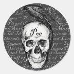 Pegatina del Poe del cuervo