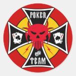 Pegatina del póker