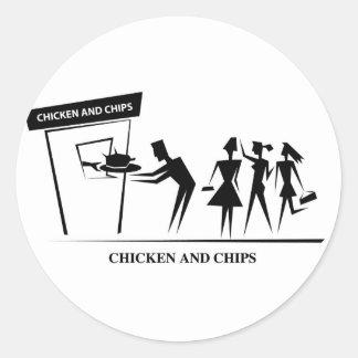 Pegatina del pollo/de los microprocesadores