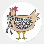 Pegatina del pollo del país