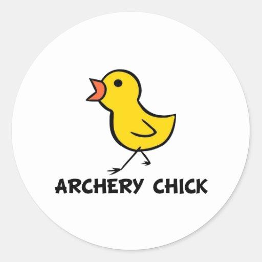 Pegatina del polluelo del tiro al arco