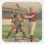 Pegatina del poster del béisbol del vintage