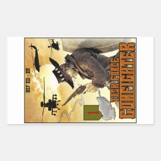 Pegatina del poster del Gunfighter del grupo de