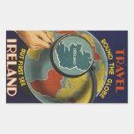 Pegatina del poster del viaje del vintage de Irlan