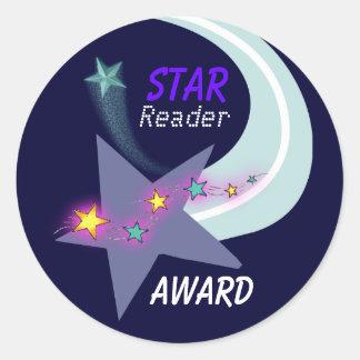 Pegatina del premio del lector de la estrella