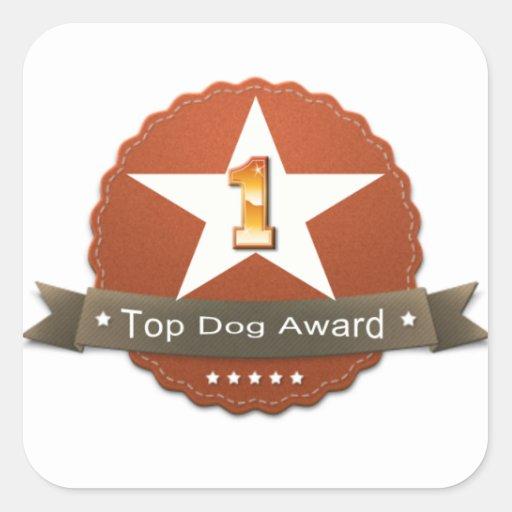 Pegatina del premio del perro superior