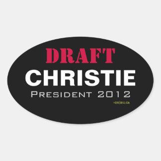 Pegatina del presidente 2012 óvalo de Chris