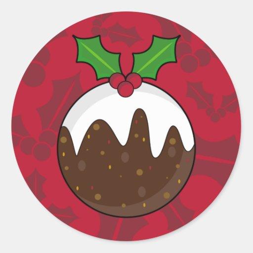 Pegatina del pudín del navidad