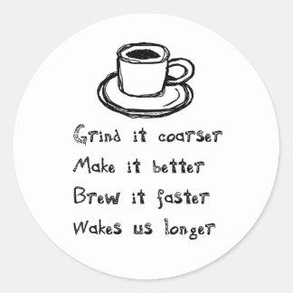 Pegatina del punk del café