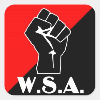 pegatina del puño del wsa
