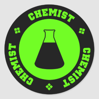 Pegatina del químico