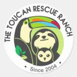 Pegatina del rancho del rescate de Toucan