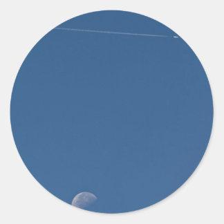 Pegatina del rastro de la luna y del vapor
