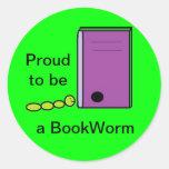 Pegatina del ratón de biblioteca