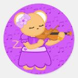 Pegatina del ratón del violinista