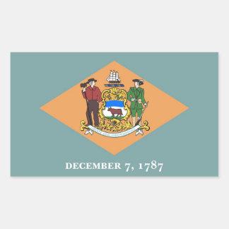 Pegatina del rectángulo con la bandera de