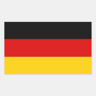 Pegatina del rectángulo con la bandera de Alemania