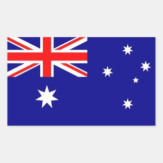 Pegatina del rectángulo con la bandera de Australi