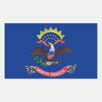 Pegatina del rectángulo con la bandera de Dakota