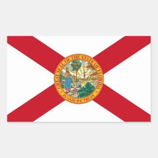 Pegatina del rectángulo con la bandera de la