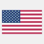 Pegatina del rectángulo con la bandera de los E.E.