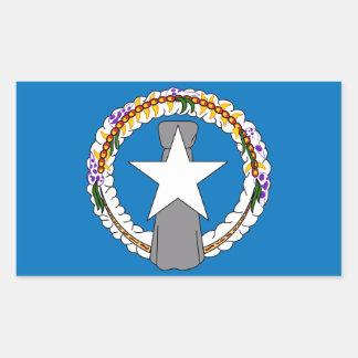 Pegatina del rectángulo con la bandera de Mariana