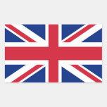 Pegatina del rectángulo con la bandera de Reino