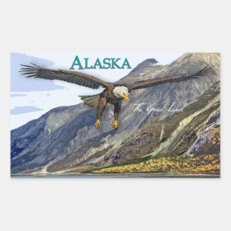 Pegatina del rectángulo de Alaska