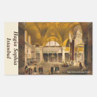 Pegatina del rectángulo de Hagia Sophia