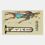 Pegatina del rectángulo de Horus