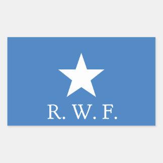 Pegatina del rectángulo de la bandera azul de