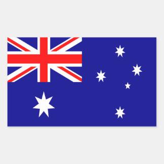 Pegatina del rectángulo de la bandera de Australia