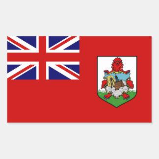 Pegatina del rectángulo de la bandera de Bermudas